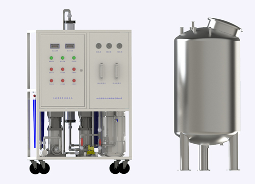 Soft endoscope cleaning water treatment equipment